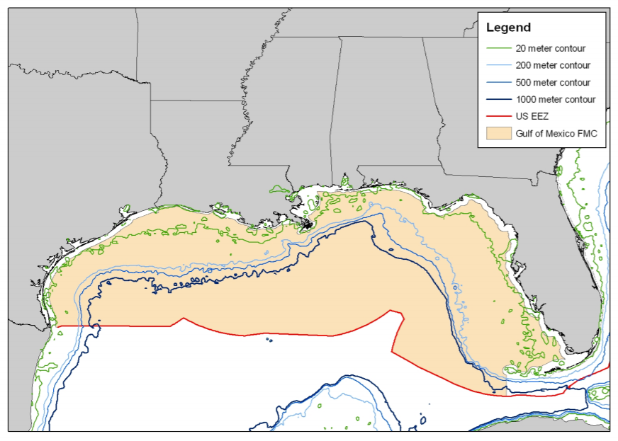 Gray Triggerfish boundary map