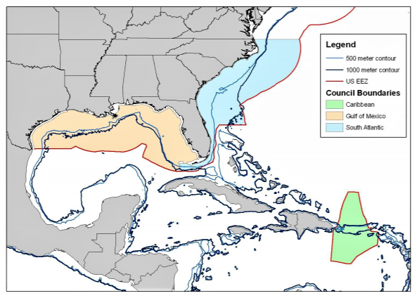 King Mackerel boundary map