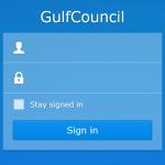 Gulf Counsil Login Screen