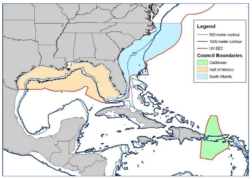 Yellowtail Snapper boundary map